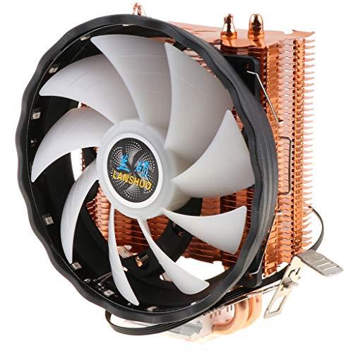 B Blesiya Ventilador de CPU Silencioso de 120 Mm para Computadora, Enfriador de CPU LED de 3 Polos - Vistoso