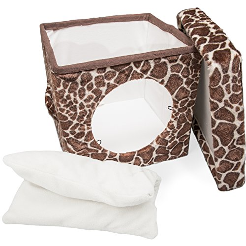 Cat Condo Pet Cube (15x15x15) - Cat House Pet Bed Hideaway for Your Kitty's Privacy and Entertainment! Durable, Washable, Easy to Clean & Non-Toxic Cat Bed - Large 8.5' Entry with Easy Carry Handle!