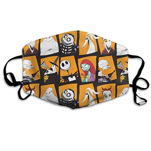 Nightmare Before Christmas Cloth Face C-over Reusable Washable Halloween Outdoor Proof Dust Protection Breathable Balaclavas With Adjustable Ear Loops-2