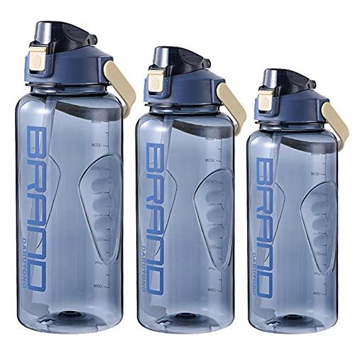 Yidieman Botella de Agua Deportiva Super Sparrow,Botella de Agua Deportiva con asa-Blue_1500ML,para Correr, Gimnasio, Yoga, Aire Libre y Acampar