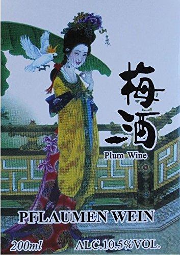 2x Original chinesischer Pflaumenwein a 200ml Plum Wine 10,5% Pflaumen Wein