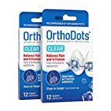 OrthoDots CLEAR (24 Count) - Moisture Activated, Silicone Dental Wax Alternative for Pain Caused by Braces....