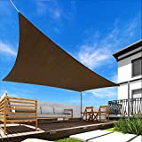 Windscreen4less 16' x 20' Sun Shade Sail Rectangle Canopy in Brown with Commercial Grade Customized