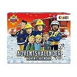 CRAZE Calendario Avvento 2021 Fireman Sam, Calendario dell'Avvento con Pompieri Ragazzi, con Giochi creativi, Colore Divertenti sorprese, 24690