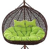 HJXX Cojín Grande del Asiento del Columpio de la Silla del Huevo, Cojines para sillas Colgantes al Aire Libre, Cojines de Asiento para sillas Colgantes al Aire Libre, para Patio jardín