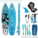 Bluefin Cruise Carbon SUP Board Set | Aufblasbares Stand Up Paddle Board | 6 Zoll Dick | Carbon Fibre Paddel | Kajak Sitz | Komplettes Zubehör