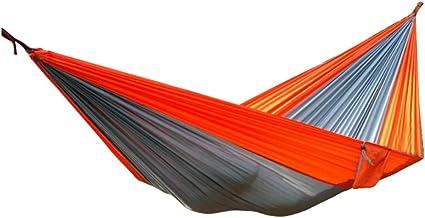 Camping Hammock Swing Bed Lightweight Portable Hammocks Outdoor Indoor for Travel Beach Backyard (Color : Gray)