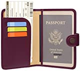 Zoppen Rfid Blocking Travel Passport Holder Cover Slim Id Card Case (#21 Grape Purple)