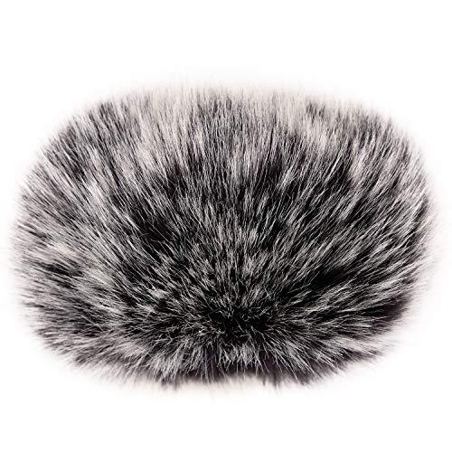 """ChromLives manguito de viento Zoom H1 Micrófono de parabrisas Parabrisas peludo al aire libre 2.5""""X 40 mm (L x D) Cubierta de viento parabrisas para Zoom H1 Apogee Mic y más, Negro"""