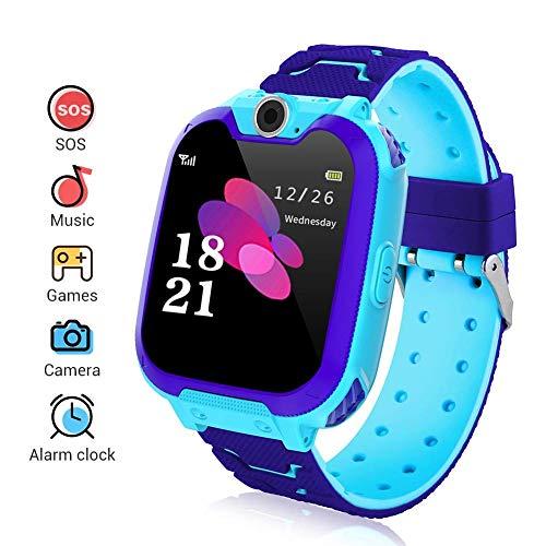 Smartwatch per bambini, Smart Watch con lettore musicale, SOS, schermo LCD touch da 1,44 pollici, con fotocamera digitale, giochi, sveglia per ragazzi e ragazze