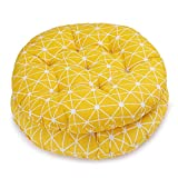 HomeMiYN Patio Decorative Round Indoor Chair Pad Set of 2 Bistro Chair Cushion 15.5×15.5 inch