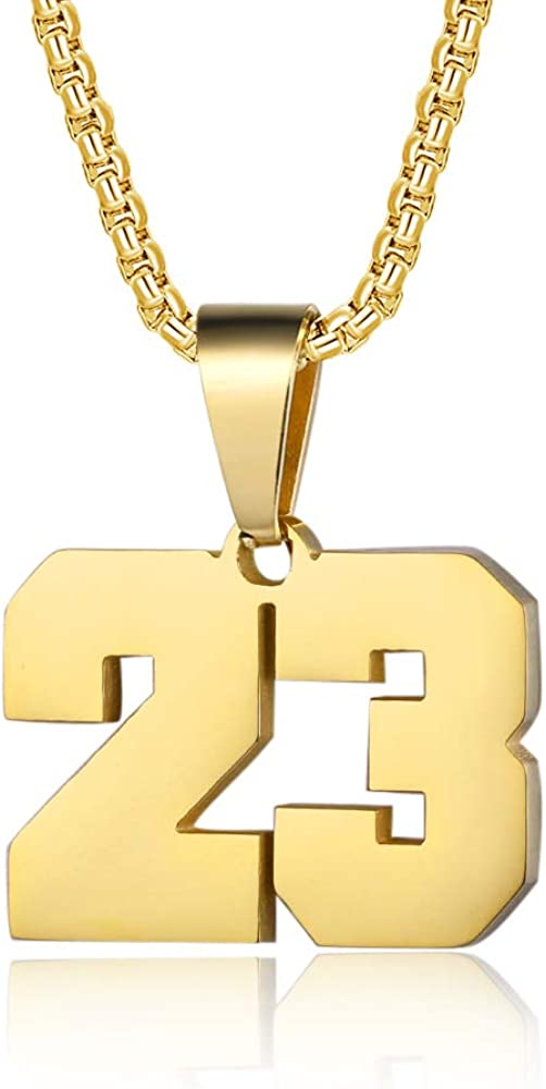 Number Necklaces Personalized 18K Initial Save money Gold Plated Discount mail order