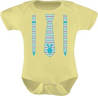 Tstars - Easter Bunny Suit & Tie Gift Cute Baby Bodysuit