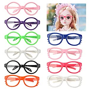DOLL EYEGLASSES FOR 18IN DOLLS -- Dress up your 18 inch doll with these mini eyewears, your little doll will be look like a teacher or student that full of knowlage VARIOUS APPLICATION DOLLS EYEGLASSES -- You can play this doll size eyeglasses set wi...