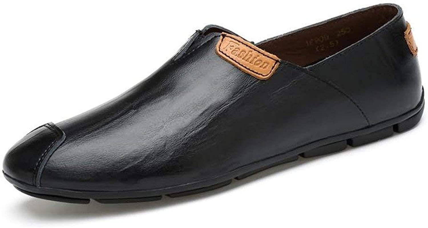 FuweiEncore Men's Moccasins shoes, Men's Fashion Driving Loafers Slip on Comfortable Moccasins Casual Lightweight shoes (color  Black, Size  47 EU) (color   As shown, Size   One size)