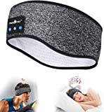 Sleep Headphones Wireless Bluetooth Music Sports Headband Noise Cancelling Sleeping Eye Mask, Mind Band Great for Side Sleepers Running Yoga Insomnia Travel, Gift for Men Women