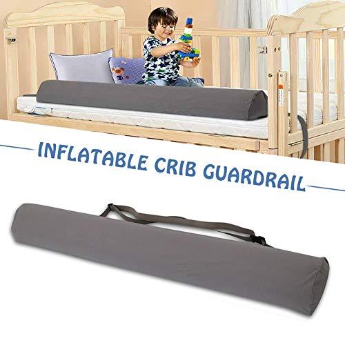 Chowaway Protector de cama, protector de espuma para cuna/cama infantil con funda antideslizante, hipoalergénica, impermeable y lavable; barra de cama para niños, adultos y personas mayores