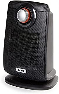 Domo DO7338H Calentador de Ventilador Negro 2000 W - Calefactor (Calentador de Ventilador, Piso, Negro, 2000 W, 1300 W, 255 mm)