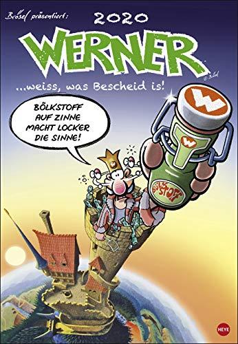 Werner - Perlen der Weisheit - Kalender 2020 - Rötger Feldmann - Brösel - Heye-Verlag - Wandkalender - 37 cm x 53,5 cm