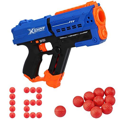 X-Shot - Pistola juguete, X shot, Pistola de bolas para niños, Pistola Chaos, Pistola de bolas, Bolas gomaespuma, Pistola de bolas de plástico, Chaos, Armas de juguete, Pistola juguete realista