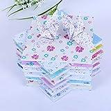 PLBB3K Papel Origami 72 Pcs12 Patrones Mixtos Fondo de Arte de los niños y Florales Papel Hobby Bric...