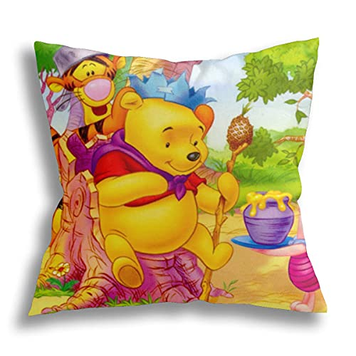Winnie The Pooh almohada mejor para dormir laterales/pierna inferior, espalda, cadera, rodilla, articulación, espuma viscoelástica con funda lavable