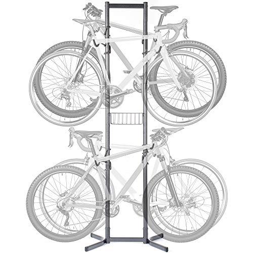 Delta Cycle & Home 4 Soporte para bicicleta con cesta, color gris