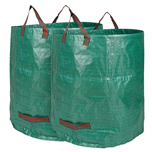 Edaygo Gartenabfallsack Laubsack Gartensack aus Polypropylen-Gewebe (PP), 500 Liter, 2 Stück
