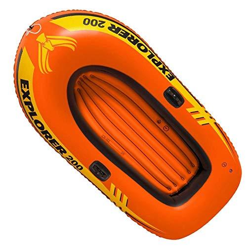 Hongzhi - Juego de botes inflables para 2 personas, 3 personas, con remos y bomba - Barco inflable portátil plegable - Rubber Explorer Boat Kayak Canu para pesca al aire libre