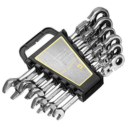 MXBIN 8/10/12/13/14 / 17mm 6 stücke Ratschenschlüssel Schraubenschlüssel Hardware Innensechskant Auto Reparatur Werkzeuge Autopflege und Wartung