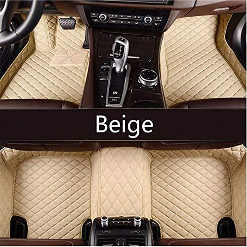 Youthus Alfombrillas Coche para BMW E30 E34 E36 E39 E46 E60 E90 F10 F30 X1 X3 X4 X5 X6 1/2/3/4/5/6/7 Car Accesorios de Estilo, Beige