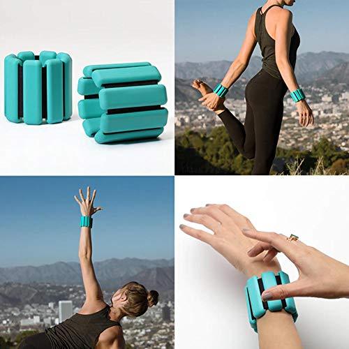 Handgelenkgewichte für Frauen 2 Stück verstellbare tragbare gewichtete Armband Handgelenk Knöchelgewichte für Yoga Barre Pilates Bodybuilding Stärkung Fitness Fitness Gym Walking Jogging Gymnastik