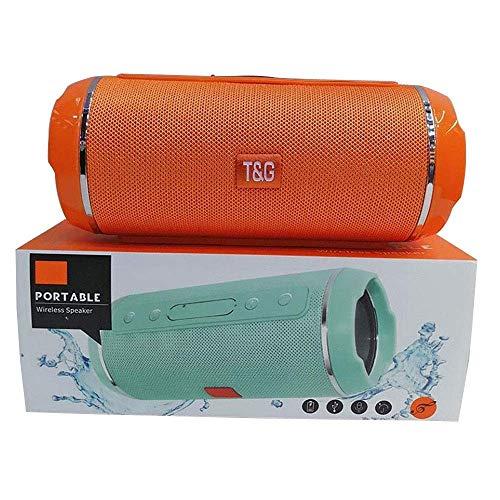 Tg116 Tarjeta de Altavoz Bluetooth inalámbrica Impermeable de Tela Altavoces Dobles Mini subwoofer estéreo portátil Le Brinda una Experiencia excelente (Color: F Tamaño: 80 * 80 * 180 mm)