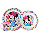 Generico Set Pappa Minnie Mouse Disney 2 Piatti + Tazza Bambina - MIN21/3PZTAZZA