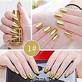 Ocamo Metallic Nagellack Spiegeleffekt Lack bunter glänzendes Metall Nagellack Maniküre Lack Gold 1# Normale Spezifikationen