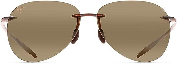 Maui Jim Sunglasses | Sugar Beach 421 | Rimless Frame, with Patented PolarizedPlus2 Lens Technology