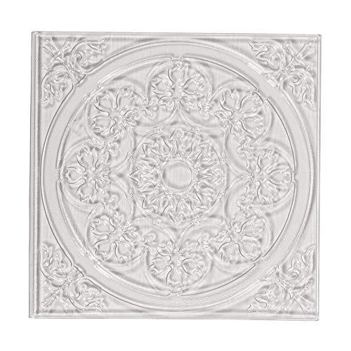 Rayher 36094000 Relief-Eingießplatte Mandala, 11 x 11 cm, für plastische Muster in Gießobjekten