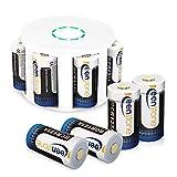 Arlo - Batterie Keenstone, 8 pezzi, 3,7 V, 700 mAh, per fotocamera Arlo, con alloggiamento batteria e custodia per fotocamera