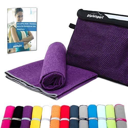 Mikrofaser Handtuch Set - Microfaser Handtücher für Sauna, Fitness, Sport I Strandtuch, Sporthandtuch I 1x XL(180x80cm) I Lila