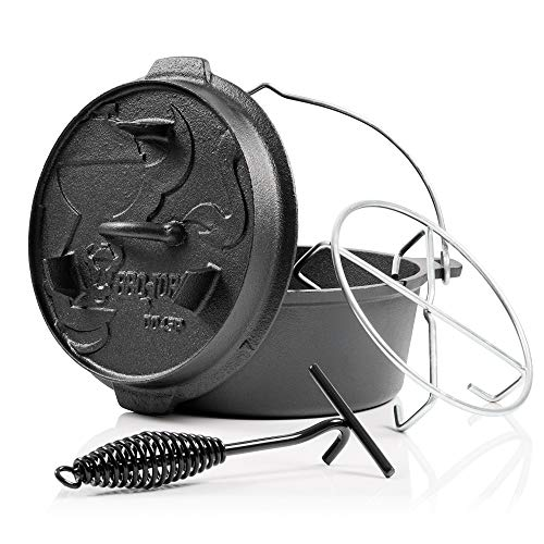 BBQ-Toro Dutch Oven Premium Serie aus Gusseisen, perfekt zum Brotbacken