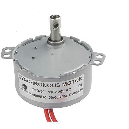 Synchronous Motor 50KTYZ AC 110V 120V 50//60Hz 80 r//m CW//CCW 6W Torque 0.85kgf.cm
