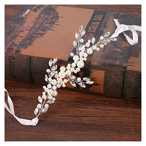 Tiara d' argento alla moda perla perla fascia da sposa tiara for accessori for capelli sposa accessori perla fatti a mano braccialetto donna gioielli iaria DAGUAI (Size : Pearl Bracelet)