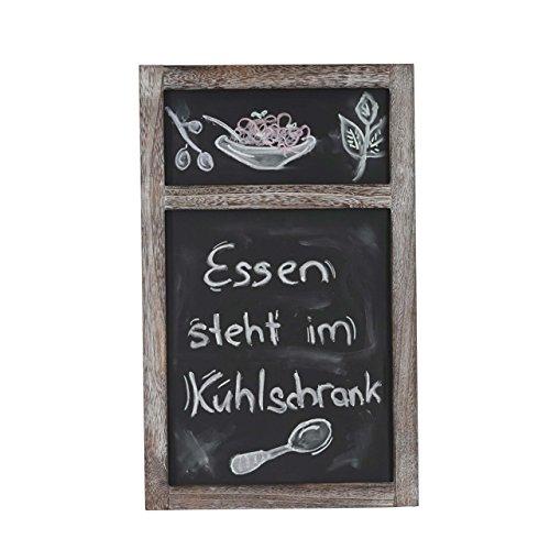 Mendler Werbetafel HWC-C51, Wandtafel Kreidetafel, 55x34x2cm Shabby-Look Vintage - braun