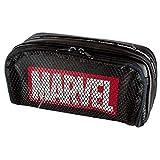 【MARVEL/マーベル】BOXペンケース(BLACK)51246 ペンポーチ/ふでばこ/メッシュポケット