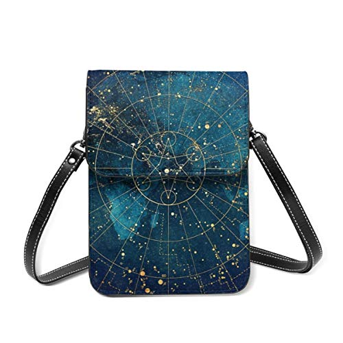 Small Shoulder Bag, Star Map City Lights Crossbody Bag CellPhone Wallet Purse Lightweight Crossbody Handbags for Women Girl