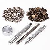 surepromise - Corchetes de Metal (30 Unidades, 10 mm, Incluye Dispositivo de fijación, para Piel)