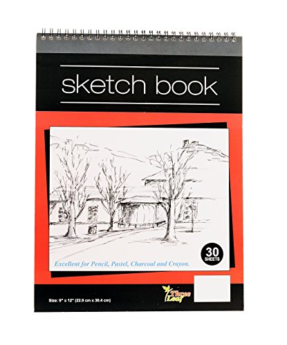 Wired Sketch Book - 9x12-Inch - 30 Sheets per Book - Excellent for Pencil, Pastel, Charcoal and Crayon from Northland Wholesale. (1-Sketch Book)