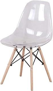 sweethome de 4 sillas de Comedor Transparentes Silla de Comedor de diseño Retro Adecuado para Sala de Estar Cocina (Transparente)