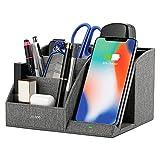 Lecone 10W Fast Wireless Charger mit Organizer, Kabelloses Ladegerät mit Stifthalter für iPhone 11/XS MAX/XR/XS/X/8/SE 2020, Samsung Note 10/S20/S10/S9/S9+/S8/S8+ & Anderen Qi-Fähigen Geräte