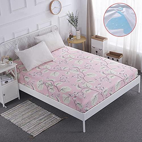 CYYyang Unterbett Soft-Matratzen-Topper, Matratzenschutz Boxspring-Betten geeignet Wasserdichtes Bettlaken einteilig atmungsaktiv-5_200 * 220cm